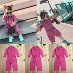 Fashion Toddler Baby Girls Romper Bodysuit Jumpsuit Outfits