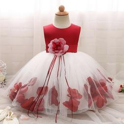 Flower Dress for Baby Girl Petals Gown Christening Baptism 1