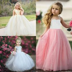 Flower Girl Princess Dress Kids Baby Party Wedding Bridesmai