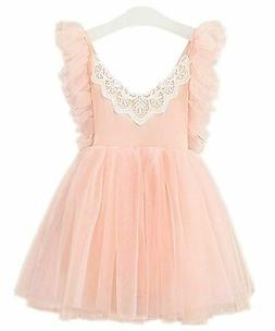 2Bunnies Girl Baby Girl Adjustable Strap Tie Back Lace Tulle