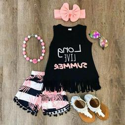 Girls Clothing Sets Outfits baby girl summer clothes Kids Gi
