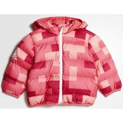 girls adidas coat infants 2ply synthetic down hooded puffa w