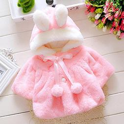 Gotd Newborn Baby Girls Autumn Winter Hooded Coat Cloak Jack