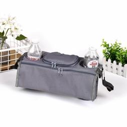 GREY Joovy Infant Baby Stroller Cup Holder Organizer Wipes D