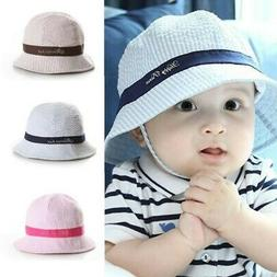 Hot Summer Baby Kid Sun Cap Infant Boy Girl Beach  Bucket Ha