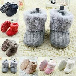 infant baby girl winter cotton knit fleece