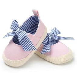 Infant Crib Shoe Pink Canvas Mary-Jane Casual Slip On Baby G