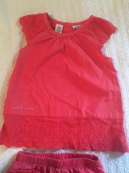 Calvin Klein Infant Girl Dress & Bloomers Outfit Set 12 Mont
