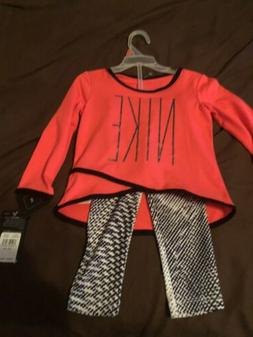 Infant Girl NIKE Pants And Top 2 Piece Outfit Track Suit 18M