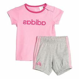 Adidas Infant Girls Summer Easy Set Tee and Shorts Full Set