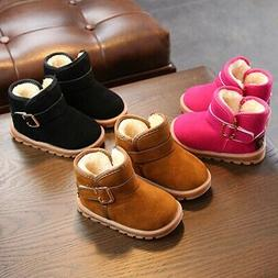 Kids Baby Girl Winter Cotton Boots Shoes Toddler Infant Soft