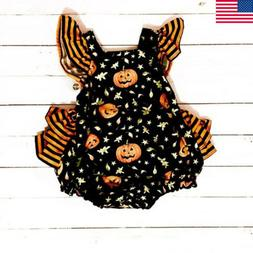 Infant Newborn Baby Girls Halloween Romper Bodysuit Jumpsuit