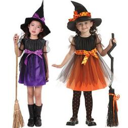 Infant Toddler Kid Girl Halloween Costume Witch Clothes Part