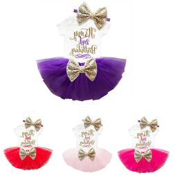 It's 2nd Birthday Baby Girl Tutu Top Headband Party Outfits