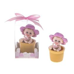 "Lunaura Baby Keepsake - Set of 12 ""Girl"" Baby with Pacifier"