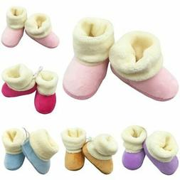 Kid Baby Girl Woolen Fur Snow Boots Shoes Toddler Newborn Fa
