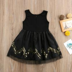 For Kids Baby Girls Sleeveless Tulle Dress Party Pageant Wed
