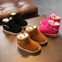 Kids Baby Unisex Winter Cotton Boots Shoes Toddler Infant So