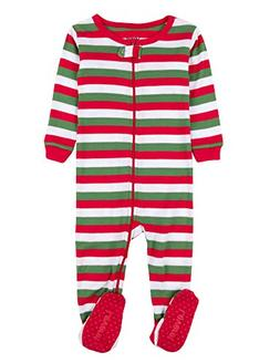 Editorial Pick Leveret Striped Baby Boys Girls Footed Pajamas Sleeper 100% d061f494c