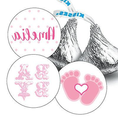 108 Baby Girl Shower Hershey Kiss Stickers Party Favors Deco
