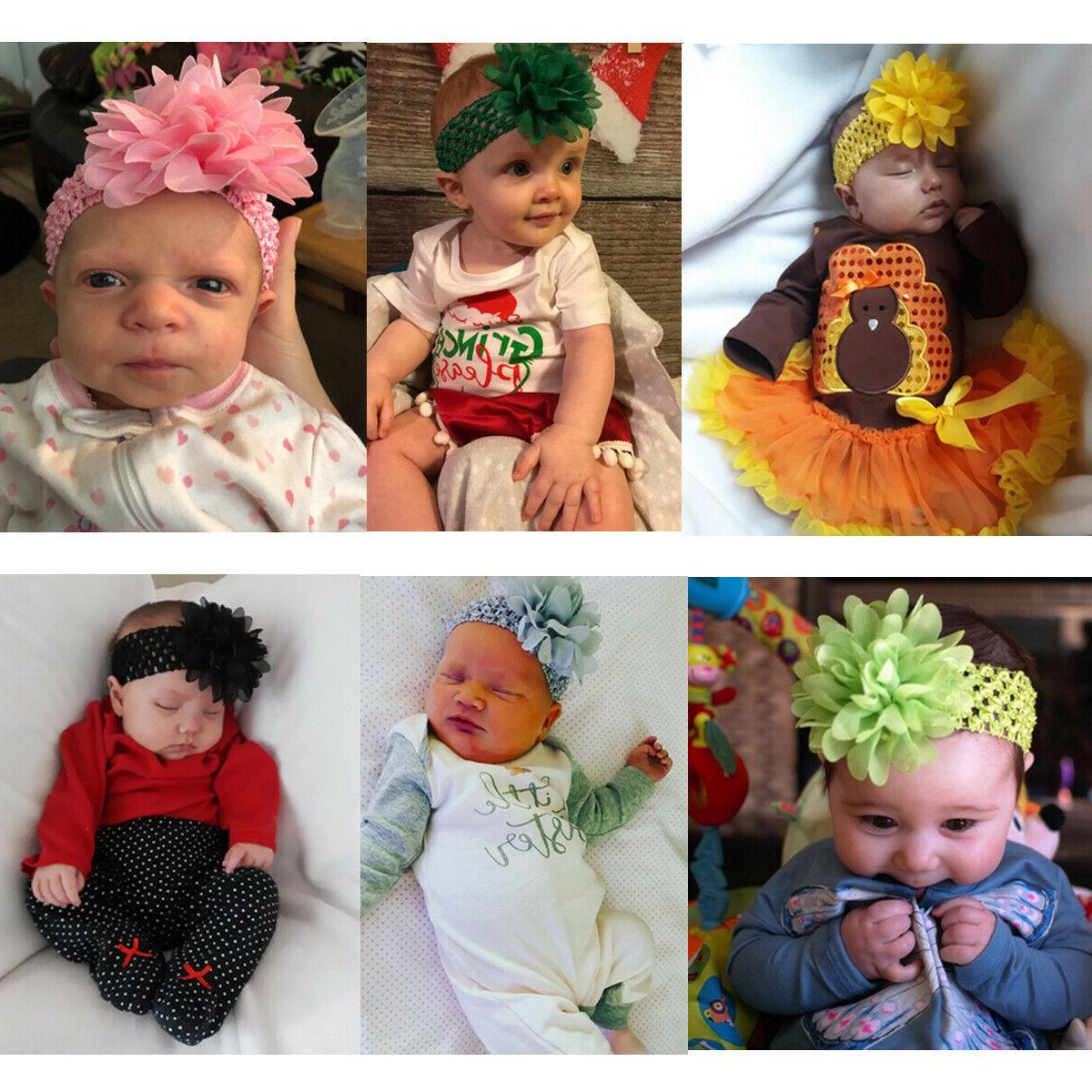 18pcs 4.5 Inch Flower Headbands for Baby Kids