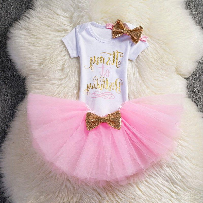 1st Tutu Baby Girl Bow Clothing Clothes