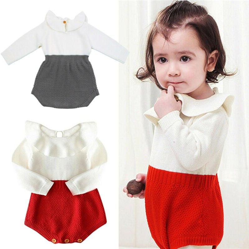 2019 Autumn Newborn <font><b>Baby</b></font> Clothes <font><b>Girl</b></font> Sweaters Rompers Knitting One-piece Outfits 0-24M