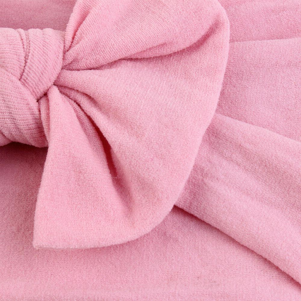 2019 Baby Knit Nylon Bow Top Knot Accessories