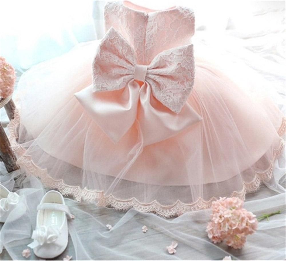 2019 Infant <font><b>Baby</b></font> Flower Gowns Princess tutu Birthday Bow