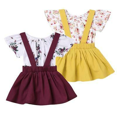 2pcs infant baby girls floral print rompers