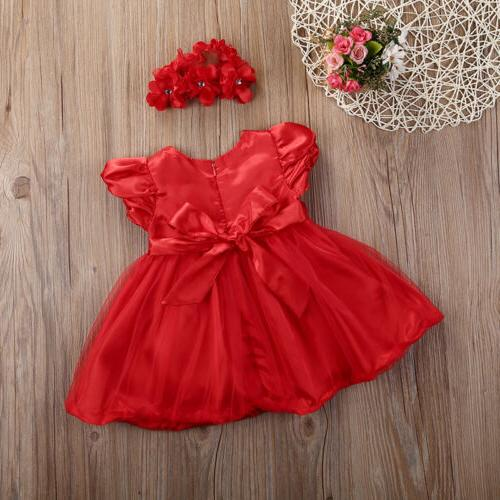 Princess Wedding Party Dresses For Baby 0-3Y