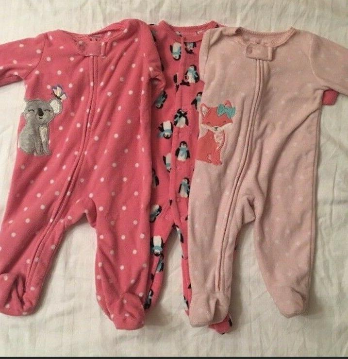 3 carter one piece with footies pajama