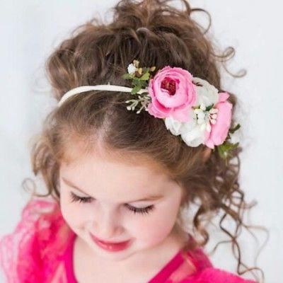 3Pcs Princess Floral Crown Hair
