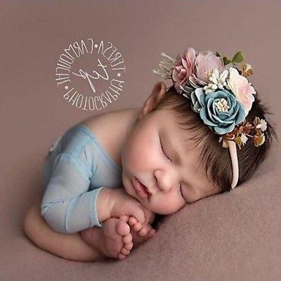 3pcs baby girl cute princess headbands floral