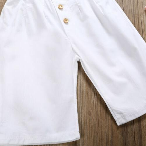 3PCS Girl Trousers Outfit Clothes 1-6Y US