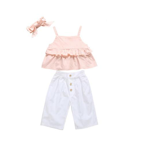 Ruffle Crop Tops Trousers 1-6Y