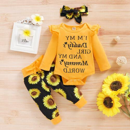 3PCS Newborn Baby Girl Clothes Shorts