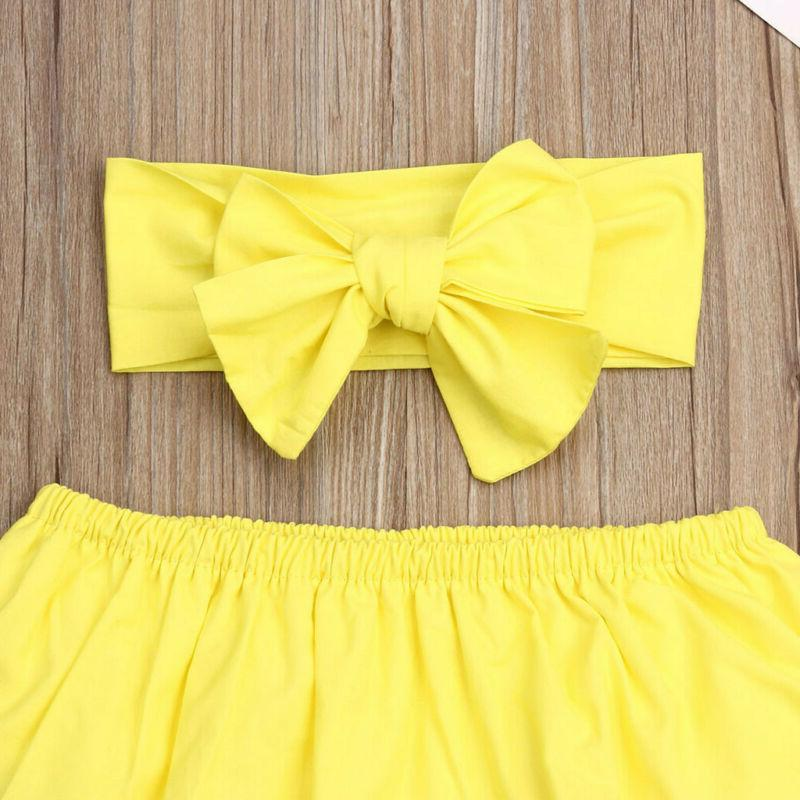3PCS Girl Outfits Romper Dress
