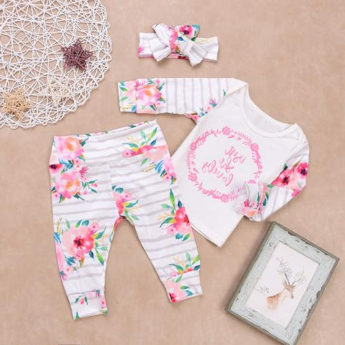 Girls Shirt+Pants Trousers Headband Set