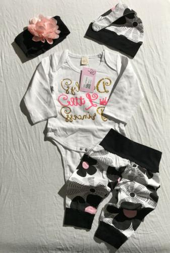 4pcs newborn baby girl kid tops romper