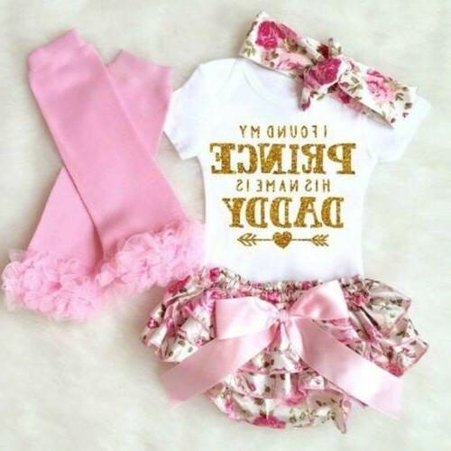 4pcs newborn kids baby girl outfits clothes