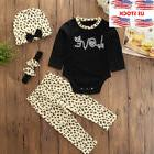 4pcs Set Infant Baby Girls Novelty Trouser Pants Outfits Bod