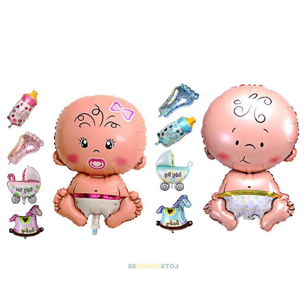 5Pcs Baby Shower Foil Christening Balloons Decoration​ Kid