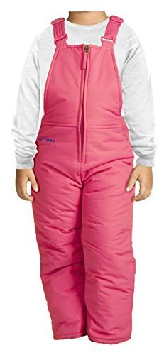 Arctix Infant/Toddler Insulated Snow Bib Overalls,Fuchsia,12