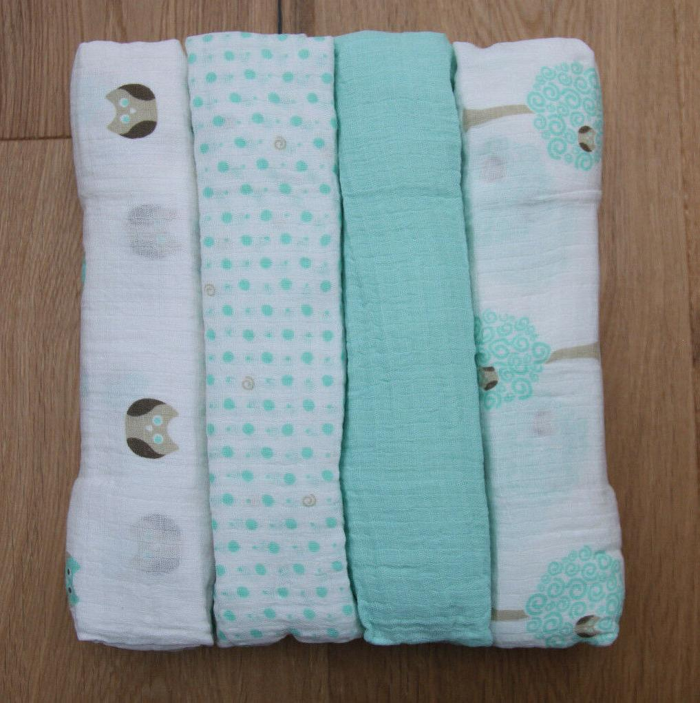 Aden Anais Baby Girl or Boy Swaddle Blanket~White, Beige & A