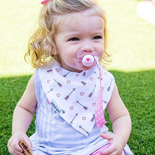 BabyBandana DroolBibs Dodo Babies For + 2 Pacifier Pacifier Case Gift 4 Premium Quality, Excellent Baby / Registry Gift