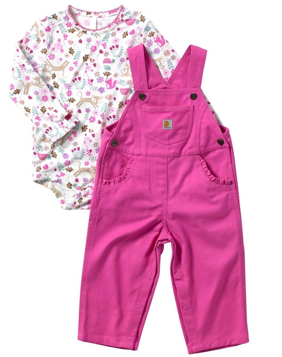 Baby Gift Set Carhartt Baby Girls Fox Friends Overalls Set P