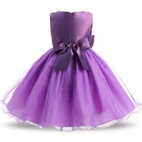 Baby Girl Bridesmaid Flower Party Rose Bow