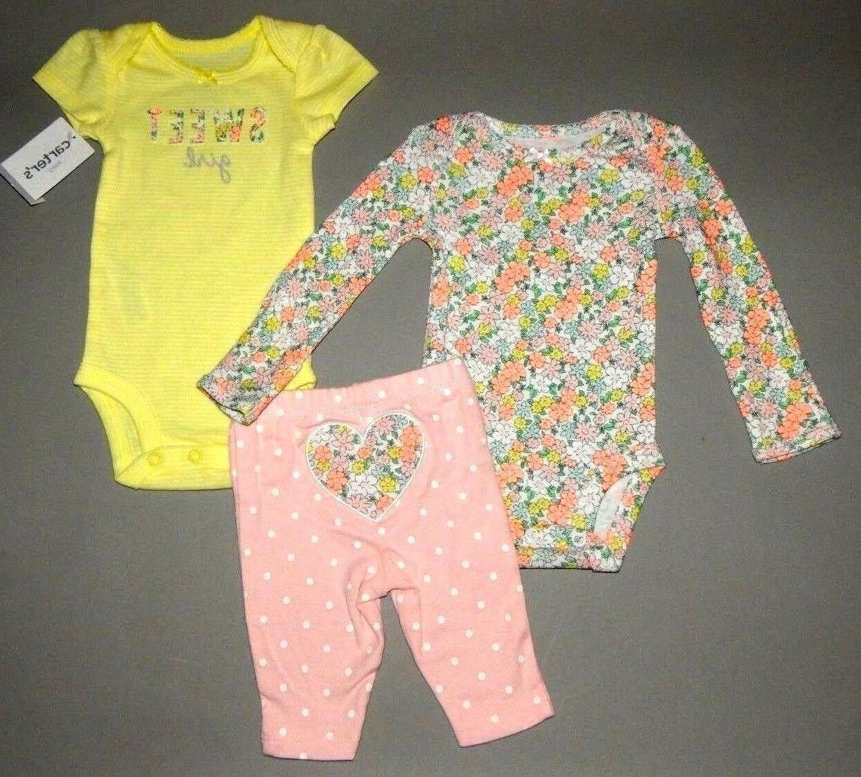 Baby girl clothes, 6 months, Carter's 3 piece set/SEE DETAIL
