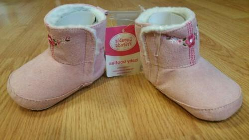 Luvable Embroidered Suede Boots 6-12m